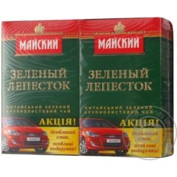 Чай Майский Зеленый Лепесток крупнолистовой черный 90г