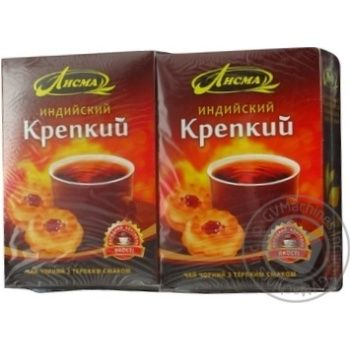 Чай Лісма індійський міцний чорний 90г
