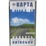 Карта автошляхів штурмана Київська область Північ