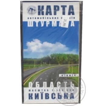 Карта автодорог штурмана Киевская область Север - купить, цены на Фуршет - фото 1