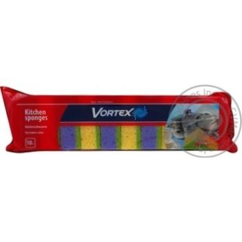 Губка кухонна Vortex пориста 10шт - купити, ціни на Восторг - фото 2