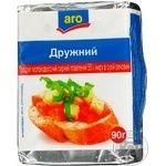 Cheese product Aro Druzhnyi processed 50% 90g Ukraine
