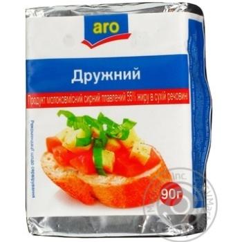 Продукт молокосодержащий сырный Аро Дружный плавленый 50% 90г Украина