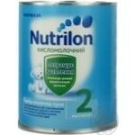 Суміш молочна Нутриція Нутрилон 2 Кисломолочний суха для дітей з 6 місяців залізна банка 400г Франція