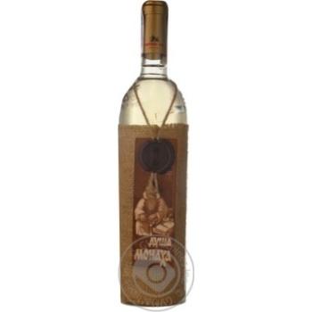 Wine sauvignon Dusha monakha white semisweet 12% 700ml glass bottle Moldova