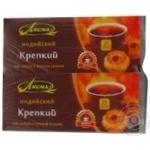 Чорний чай Лісма Індійський Міцний байховий дрібний в пакетиках 2х45г Україна
