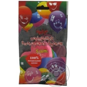Кулі повітряні Все для свята Party Favors Серця 5шт 61110/5 - купити, ціни на Novus - фото 3