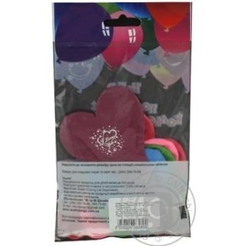 Кулі повітряні Все для свята Party Favors Серця 5шт 61110/5 - купити, ціни на Novus - фото 2