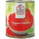Овочі помідор Файн фуд різана 850мл