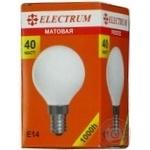 Лампа сферична матова Electrum 40W E14 A-IB-0037