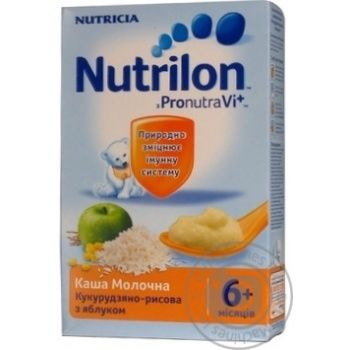 Каша детская Нутриция Нутрилон молочная кукурузно-рисовая с яблоком с 6 месяцев 225г Португалия