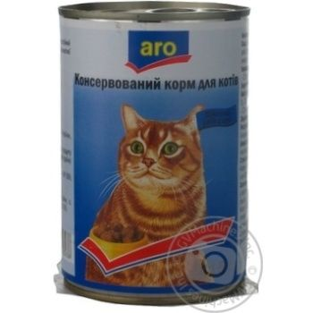 Conserve Aro for cats 415g can France