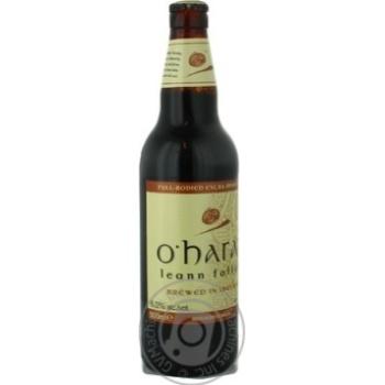 Пиво Охарас Линн Фолан солодовое темное стеклянная бутылка 6%об. 500мл Ирландия