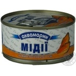 Seafood mussles Akvamaryn canned 185g can Ukraine