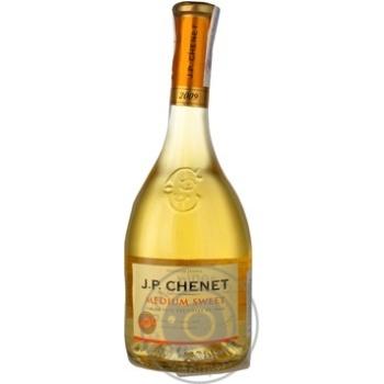 Вино белое Жан Поль Шене Медиум Свит виноградное натуральное полусладкое 11% стеклянная бутылка 750мл Франция