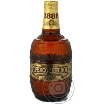 Пиво Трехсосенское Светлое стеклянная бутылка  4.5%об. 500мл Россия