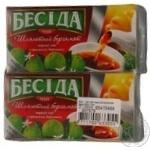 Tea Beseda with oil of bergamot black packed 26pcs 39g cardboard packaging Russia