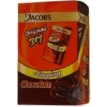 Instant coffee drink with chocolate syrup Jacobs 3in1 10х17g stick Romania