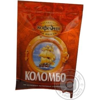 Кофе Московская кофейня на паяхъ Коломбо 100% арабика натуральный растворимый сублимированный 190г Россия