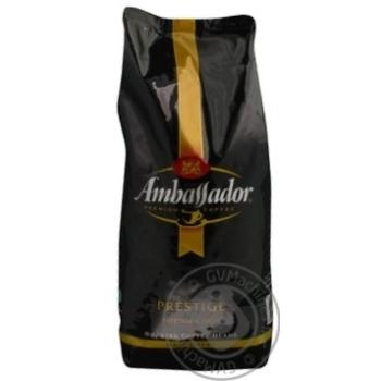 Кофе Амбассадор Престиж натуральный темнообжаренный в зернах 1000г Россия