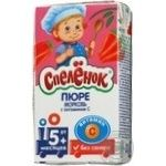 Puree Spelenok Carrot without sugar with vitamin C for 5+ month old babies tetra pak 125ml Russia