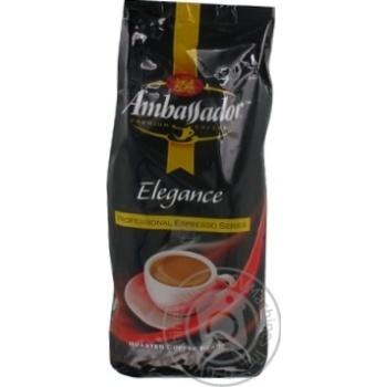 Кофе Амбассадор Элеганс натуральный среднеобжаренный в зернах высший сорт 1000г Россия