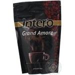 Кава Інтеро Гранд Аморе Преміум натуральна розчинна сублімована з кофеїном 140г Індія