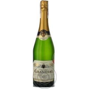 Вино игристое Grandial Blanc de Blancs Brut белое сухое 11% 0,75л