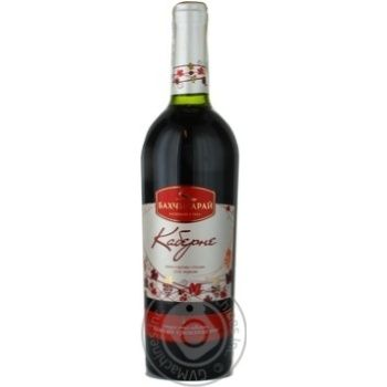 Wine cabernet Bakhchysaray red dry 13% 2009year 750ml glass bottle Ukraine