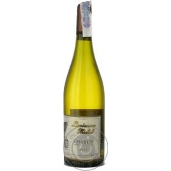 Вино белое Люсьен Мишель Шабли виноградное натуральное тихое сухое 12.5% стеклянная бутылка 750мл Франция