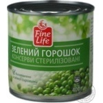 Vegetables pea Fine life green pea 400g can Hungary