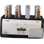 Cognac Martell 40% vs 12pcs 50ml glass bottle France