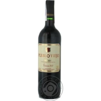 Вино красное Пуэбло Вьехо Риоха Крианца виноградное сухое 13% стеклянная бутылка 750мл Испания