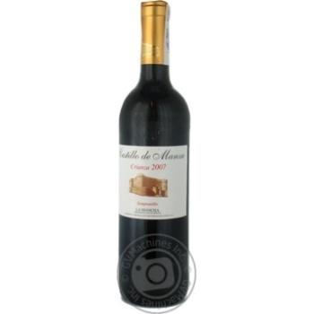 Вино Castillo De Manza Crianza 2007 красное сухое 13% 0,75л