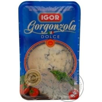 Сир Ігор горгонзола дольче м'який з блакитною пліснявою 48% 150г Италія
