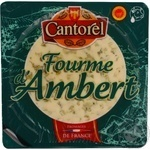 Cheese fourme d'ambert Cantorel with mold 50% 150g France
