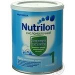 Суміш молочна Нутриція Нутрилон 1 Кисломолочний суха для дітей з народження до 6 місяців залізна банка 400г Франція