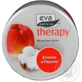 Маска для волосся Eva Natura Therapy з бавовняним молоком та екстрактомперсика 225мл