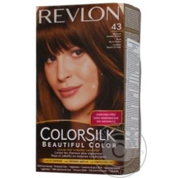 Фарба для волосся Revlon ColorSilk 43 Середній золотисто-каштановий 4G