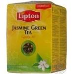 Зеленый чай Липтон Жасмин байховый с ароматом жасмина и лепестками жасмина листовой 90г Россия