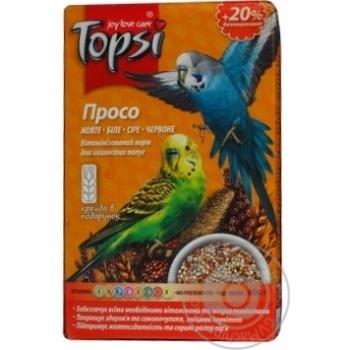 Просо вітамінізований корм Topsi для хвилястих папуг 600г