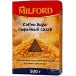 Цукор Мілфорд до кави тростинний коричневий крупні кристали 500г Німеччина