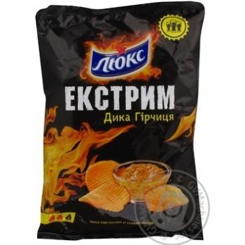 Chips Lux potato with mustard 140g Ukraine