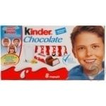 Chocolate milky Kinder 30% 100g Russia