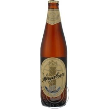Пиво Криница Жигулевское светлое пастеризованное стеклянная бутылка 4.6%об. 500мл Белоруссия