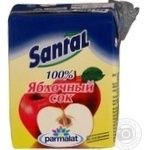 Сок Сантал яблочный тетрапакет 200мл Россия