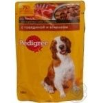 Food Pedigree with lamb canned for pets 100g soft packing Russia