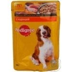 Dog food Pedigree chicken in sauce for adult dogs 100g