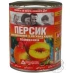 Персики Фуршет половинками в сиропе 850мл Греция