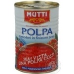Vegetables tomato Mutti pieces 400g Italy